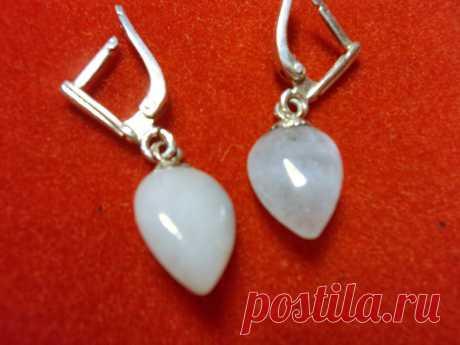 Аквамарин. Серебряные серьги из аквамарина (6298666882) - Aukro.ua – больше чем аукцион