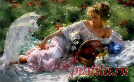 Нежные женские образы в картинах испанского художника Vicente Romero Redonto