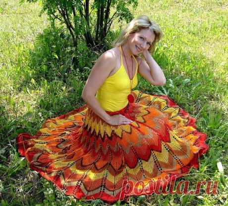 [Вязание] Женская юбка: модели, узоры, фото, схемы, описание, мастер-классы. Большущая подборка