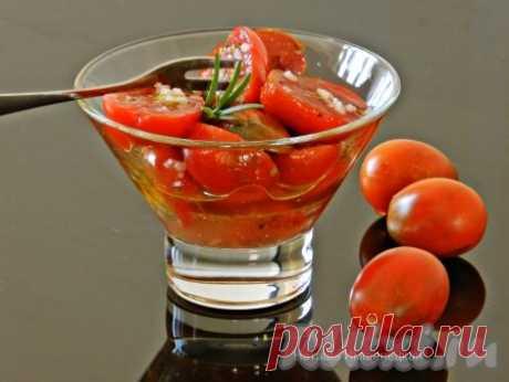 Быстрые маринованные помидоры с чесноком - 7 пошаговых фото в рецепте