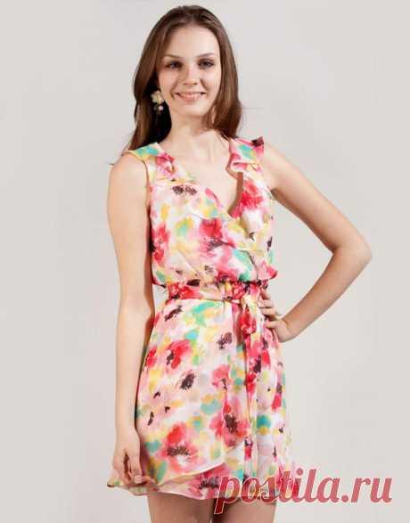 Легкое платье с ярким рисунком от Gloria Jeans - 399 р!