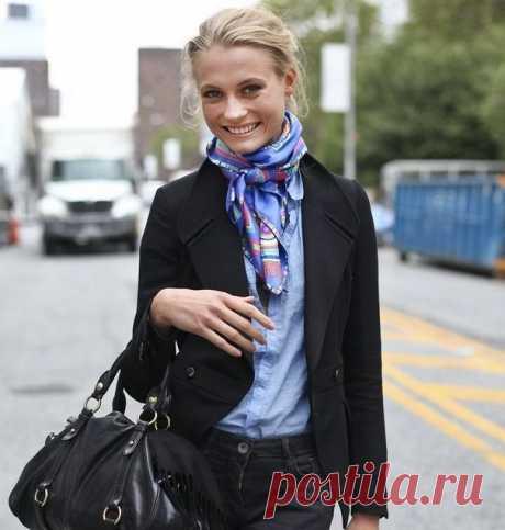Платок на шею | Как завязать платок на шее