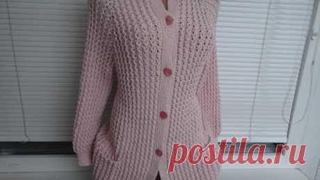 Кофта (Жакет, Кардиган) спицами. Реглан сверху. Часть 1. Расчеты, начало вязания. Jaket knitting