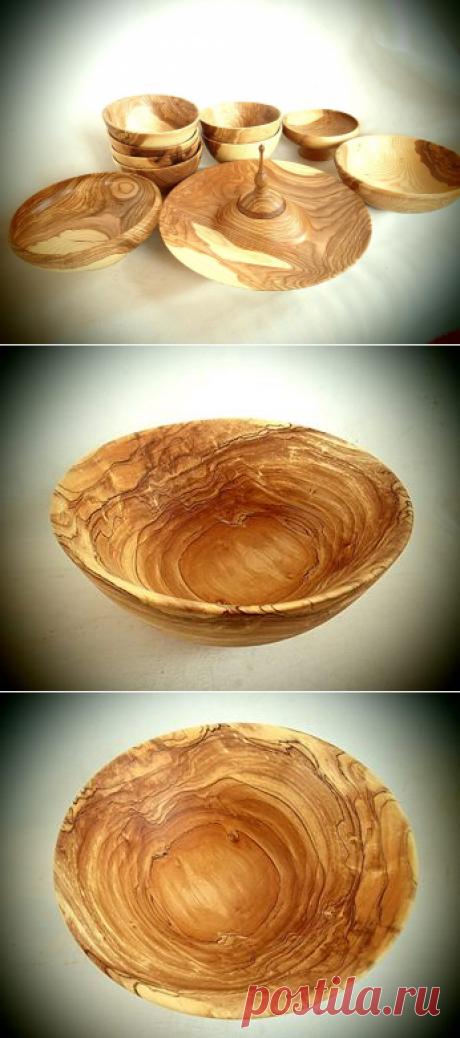 Набор деревянной посуды. Материал: Ясень. Пропитка : Льняное масло + пчелиный воск.  Автор: Сергей Гаев