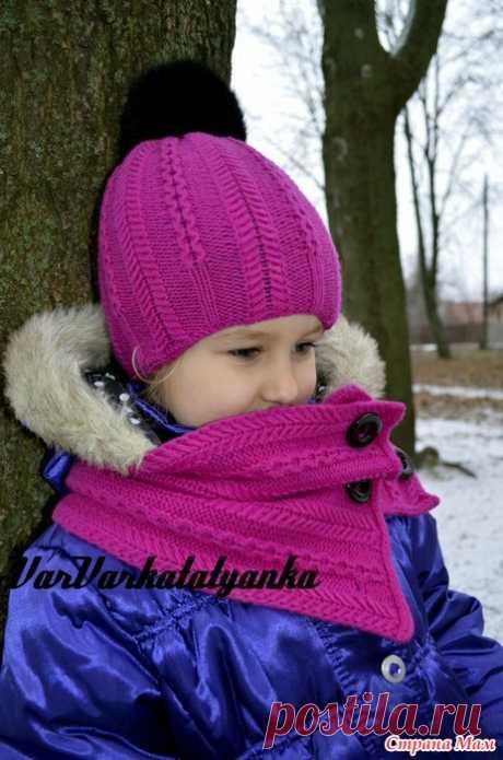 ". Комплект ""Ropes n Pearls"" by Ekaterina Blanchard Всем Привет! Связала для девочки Викуси вот такой яркий комплектик- шапочка и снудик на пуговицах."