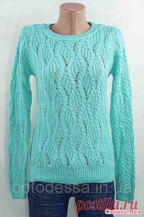 Женский пуловер спицами - Вяжем вместе он-лайн - Страна Мам