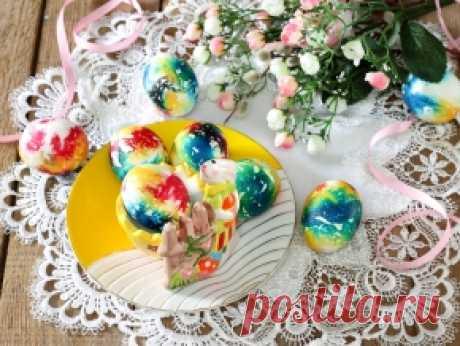 Мраморные яйца на Пасху — рецепт с фото пошагово