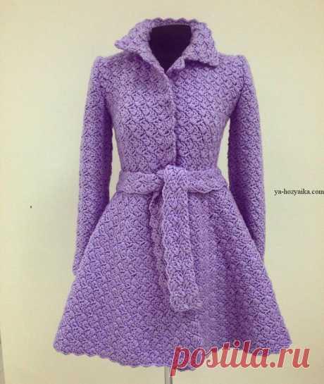 Пальто Песочные часы крючком. Модное пальто от Полины Крайновой схемы Пальто Песочные часы крючком. Модное пальто от Полины Крайновой схемы