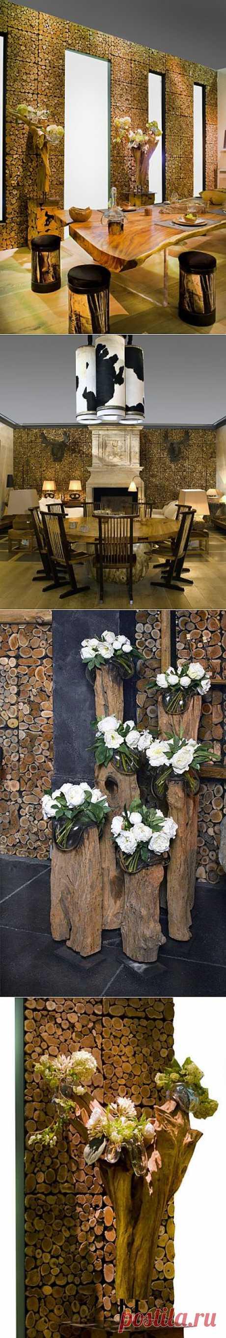 Дерево в интерьере / Декор стен / Модный сайт о стильной переделке одежды и интерьера