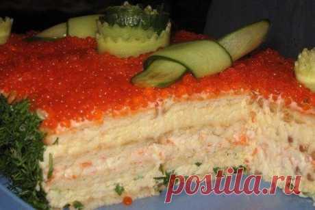 Оригинальный салат с крекерами