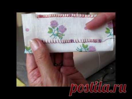 Оверлочная строчка на швейной машине