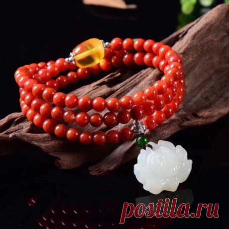 South Red Agate Beaded Bracelet/Woman Gift/Beaded Bracelets/Agate Stone Bracelet for Women/yoga bracelet Product Details:  Material: South Red Agate, Hetian Jade,Jasper  color: red  Shape: beads  Size: Beads 6 (mm)  Hetian jade carving flower length: 20mm width: 20mm  Weight: 29 grams (145 carats)  Translucent: transparent