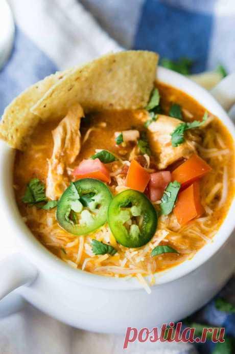 Сырный суп с томатами
