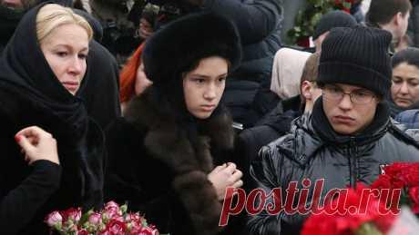 Дети Бориса Немцова на его похоронах