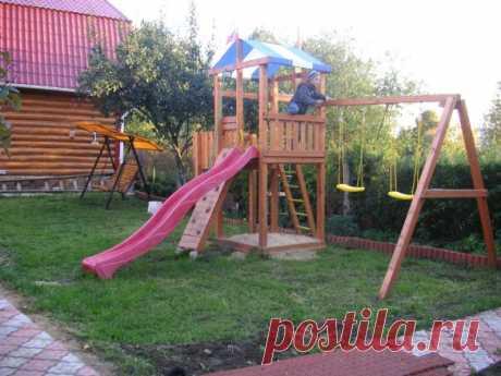 Детская площадка для дачи: чертежи, размеры, требования к безопасности - Темы недели - Журнал - FORUMHOUSE