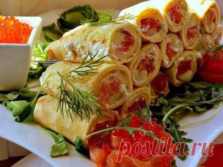 Роллы из омлета  / Удивительная еда!