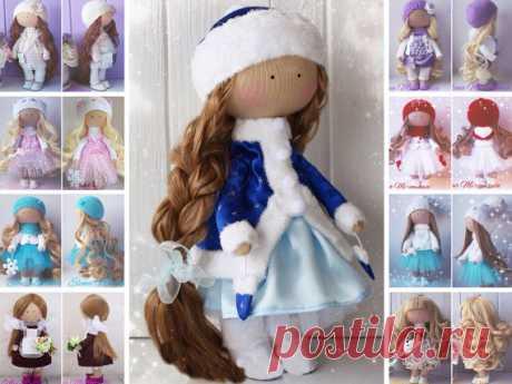 Christmas doll Handmade doll Rag doll Tilda by AnnKirillartPlace