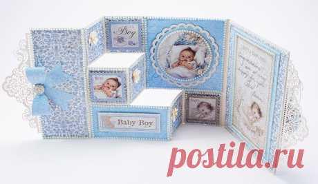 Baby Boy Congratulations Card   Tara's Craft Studio