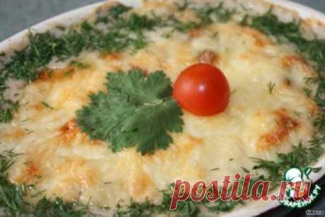 Баклажаны, запеченные с грибами в сливочно-сырном соусе - кулинарный рецепт