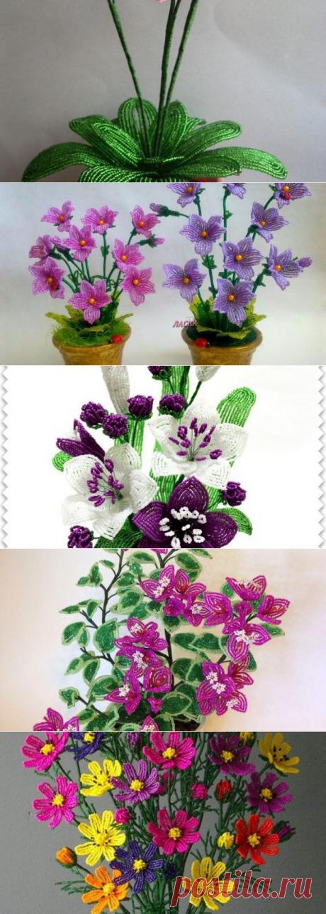 Цветы из бисера в горшках (мастер-класс с фото) 20 идей | Domigolki.ru