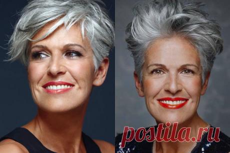 Модные прически на короткие волосы для женщин 50+ | Краше Всех