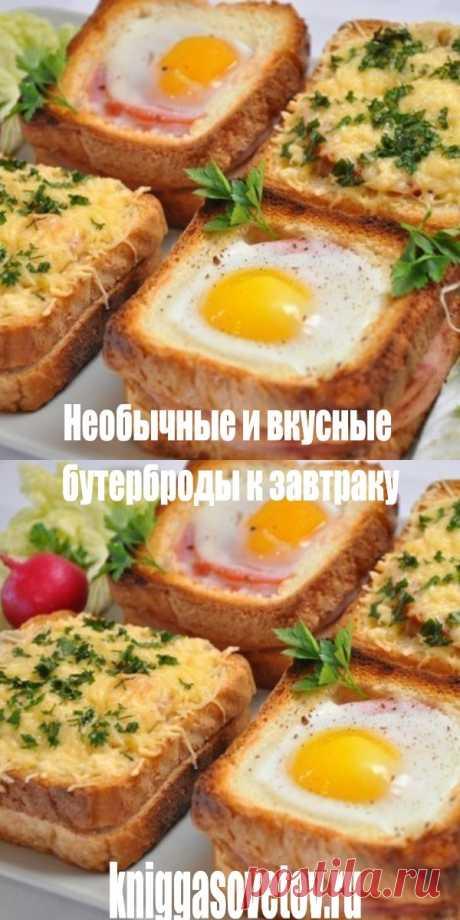 Необычные и вкусные бутерброды к завтраку - kniggasovetov.ru