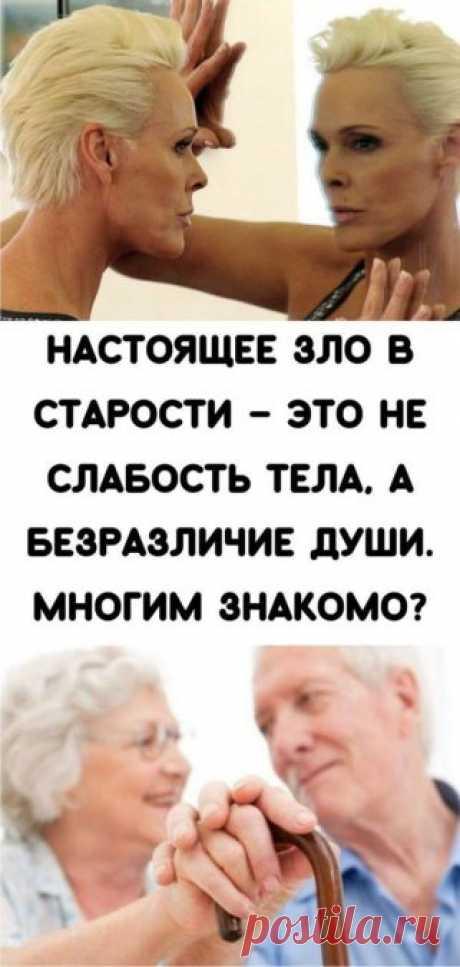 Настоящее зло в старости – это не слабость тела, а безразличие души. Многим знакомо? - Кулинария, красота, лайфхаки