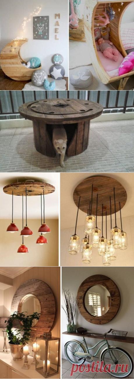 Идеи использования деревянных катушек