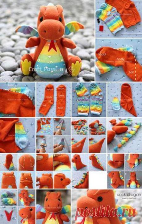 40 мини мастер-классов игрушек из носков! И более 60 идей для вдохновения!  