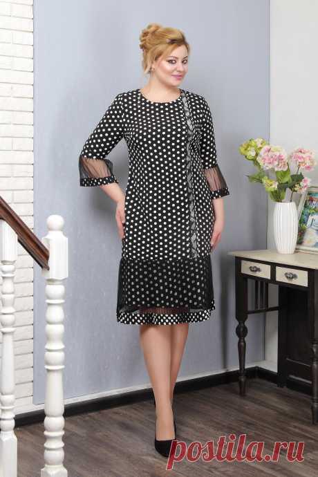 ПЛАТЬЕ 5994.630.2, черный (горох) – купить костюм в интернет магазине Знатная Дама