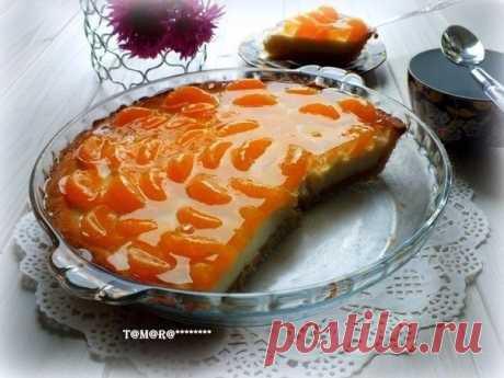 Как приготовить торт с мандаринами - рецепт, ингридиенты и фотографии