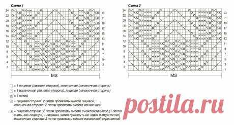 Розовый ажурный топ - схема вязания спицами. Вяжем Топы на Verena.ru