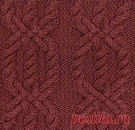 Узор с косами 81 — Shpulya.com - схемы с описанием для вязания спицами и крючком