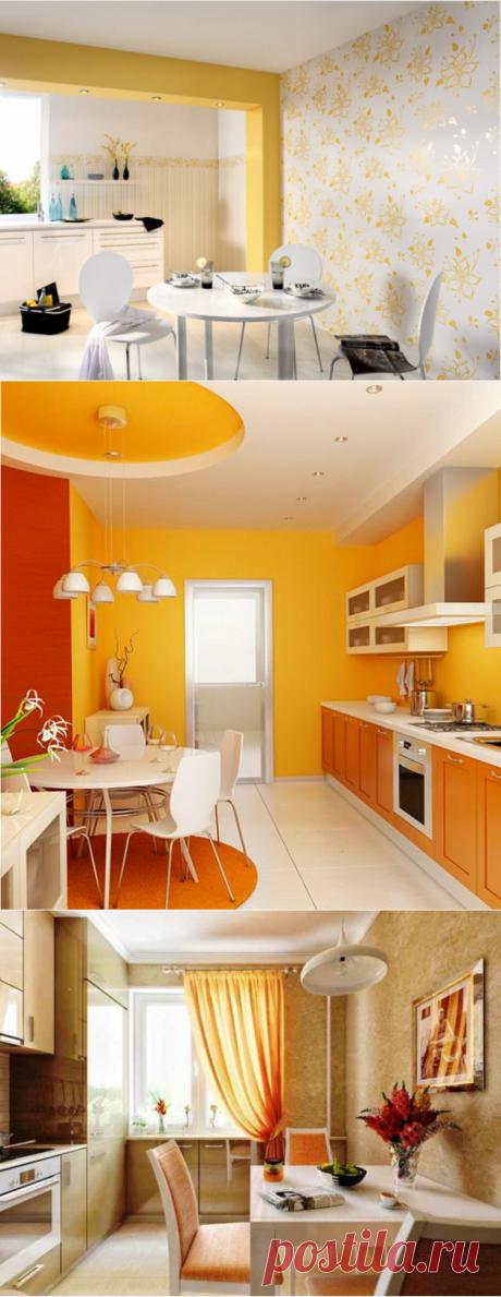 Какие цвета обоев подходят для кухни - подборка фото