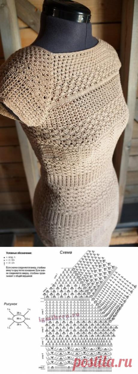 Василюшкино рукоделие.Вязание крючком,спицами.Платье.