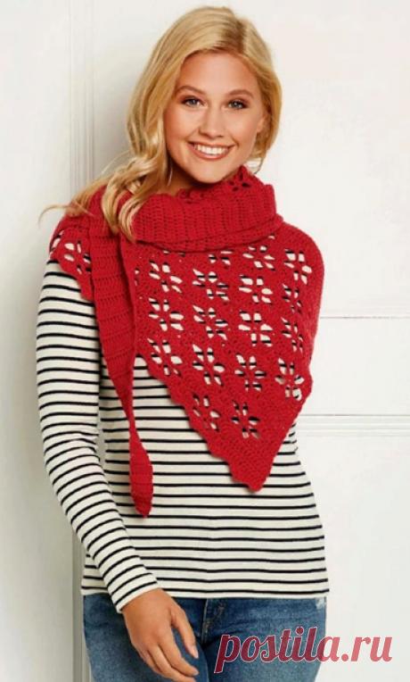 Пять шикарных шарфов, связанных крючком | Вязание в радость | Яндекс Дзен