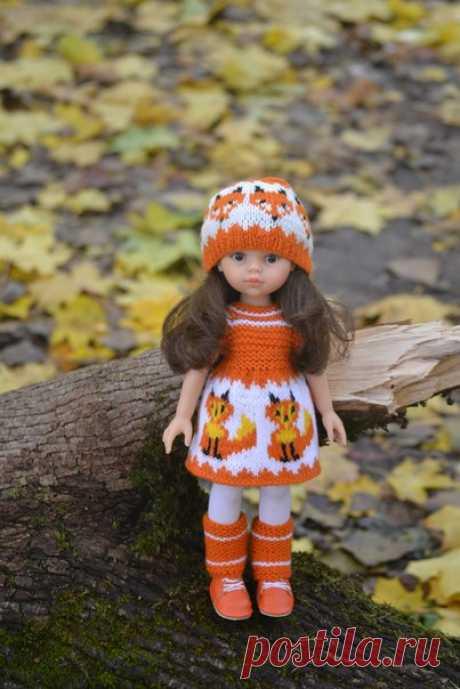 Описание платьица и шапочки от Татьяны Белокопытовой ! #вяжем_PaolaReina32см@kasatkadolls