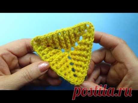 Начинаем вязать – Видео уроки вязания » Волшебный треугольник – Вязание крючком – Урок 364