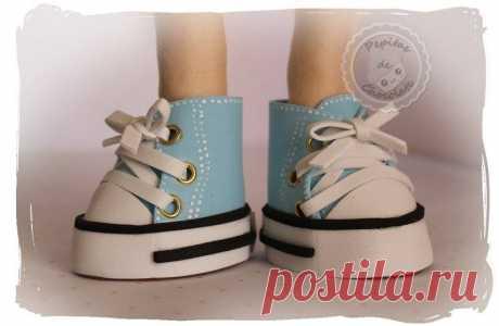 """Ботиночки для кукол и игрушек Автор: """"Pepitas de chocolate"""""""
