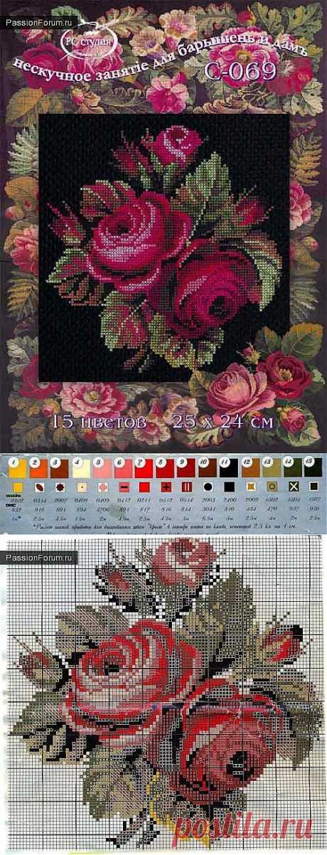 цветы / Схемы вышивки крестиком / PassionForum - мастер-классы по рукоделию