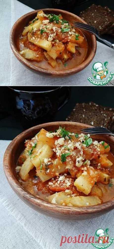 """Овощное рагу """"Сельдерейные палочки"""" с помидорами - кулинарный рецепт"""