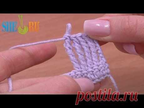 ▶ Столбик с пятью накидами Урок 13 Вязание для начинающих крючком - YouTube