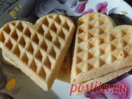 Рассыпчатое печенье в вафельнице. Идеально ко Дню Святого Валентина!