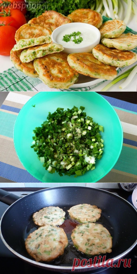 Вкусные и мягкие оладьи из зеленого лука — это прекрасный завтрак или перекус. — Вкусные рецепты