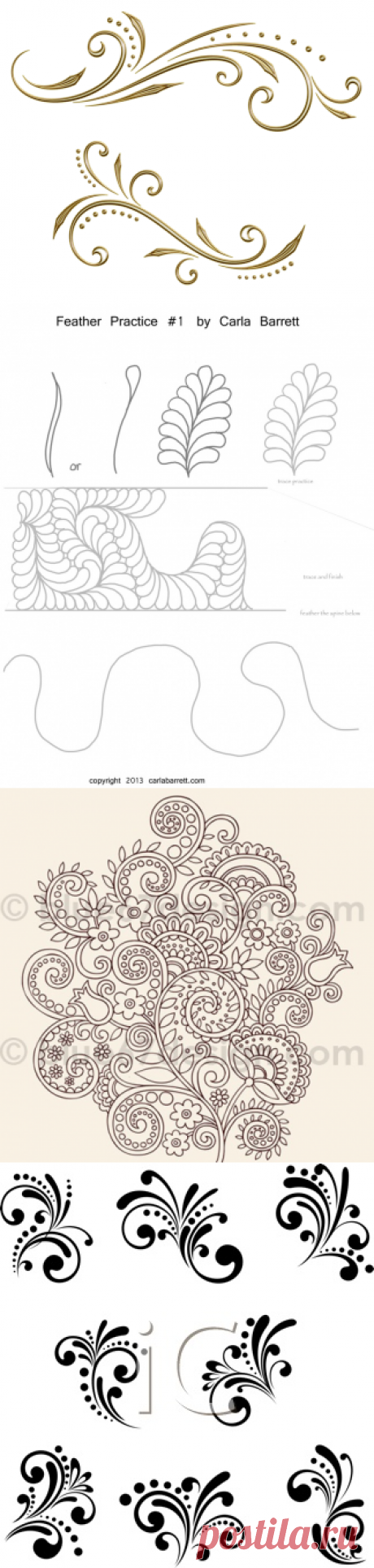 Шаблоны для рисования узоров. Doodling