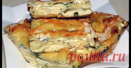 ЗВАНЫЙ УЖИН: Банальный лаваш, а как вкусно получилось! Простой и быстрый сырный пирог