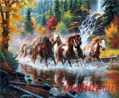 Животные - в картинах стразами от arhomework.ru