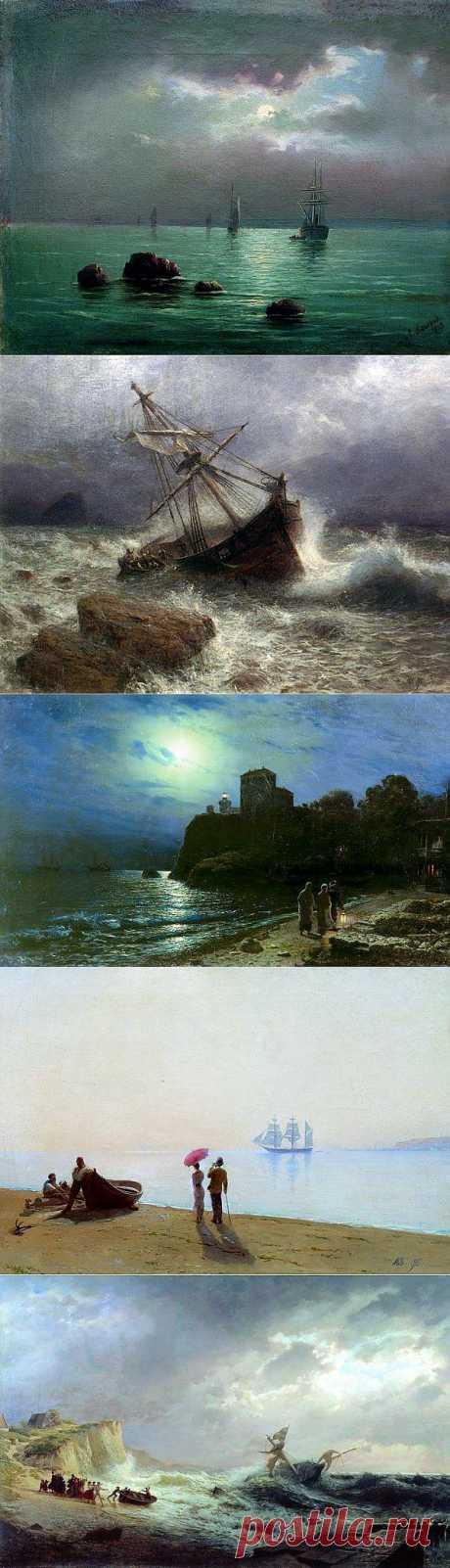 Русский художник-маринист Лев Лагорио (1826-1905).
