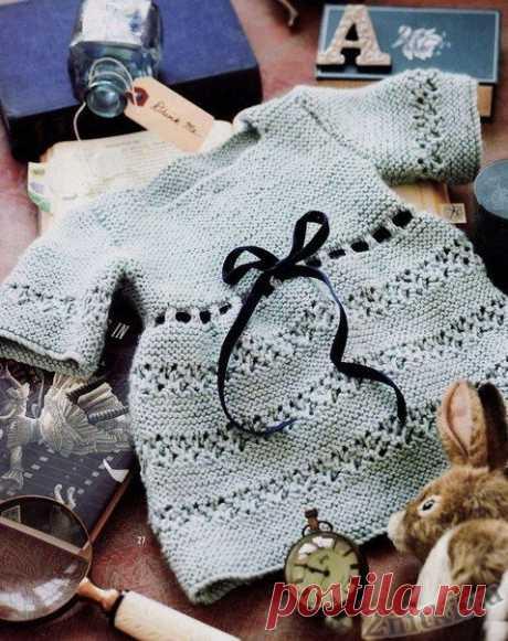 Детское винтажное платье - схемы вязания крючком и спицами - Две Нитки