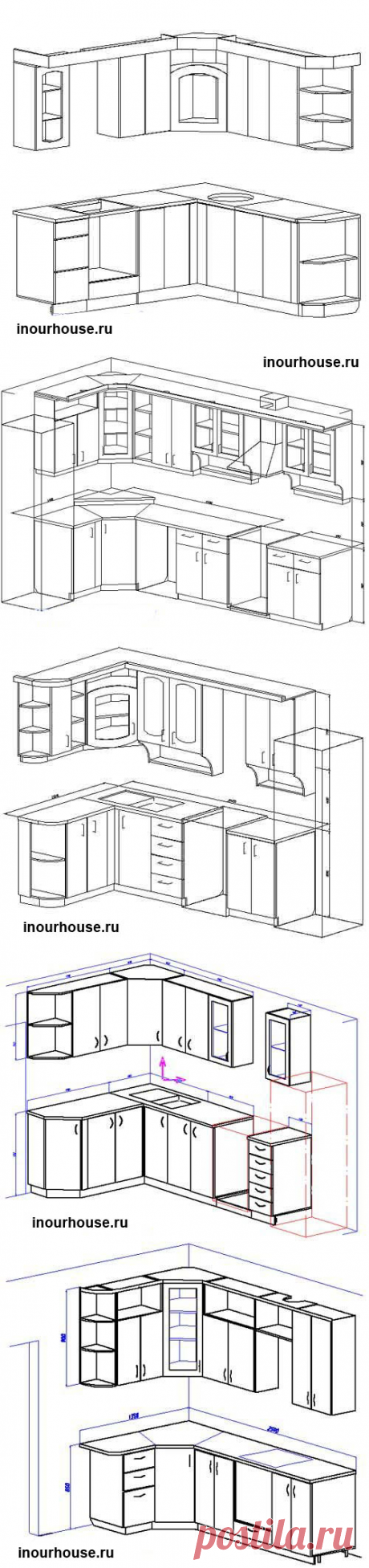 Angular kitchens. Sketches. | In our house